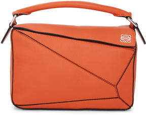 Loewe Orange Small Puzzle Bag