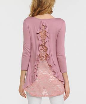 Celeste Dusty Pink Lace-Back Tunic - Women