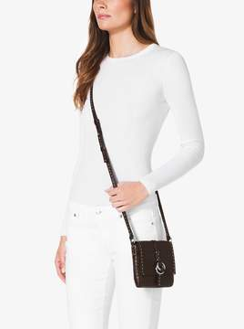 Michael Kors Julie Crocodile Crossbody - CHOCOLATE - STYLE