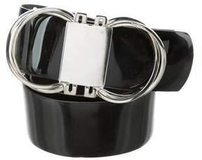 Salvatore Ferragamo Patent Leather Gancini Belt