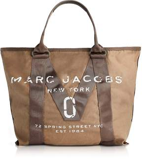 Marc Jacobs New Logo French Grey Cotton Tote - ONE COLOR - STYLE
