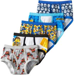 Lego Boys 4-8 The Movie 5-Pack Briefs