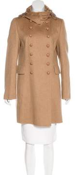 Akris Textured Knee-Length Coat