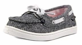 Roxy Tw Ahoy Ii B Toddler Moc Toe Canvas Black Boat Shoe.