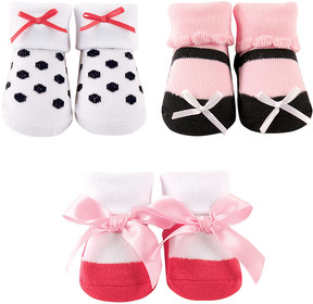Luvable Friends Hot Pink Three-Pair Sock Set - Infant