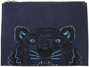 Kenzo Tiger Embroidered Nylon Canvas Pouch