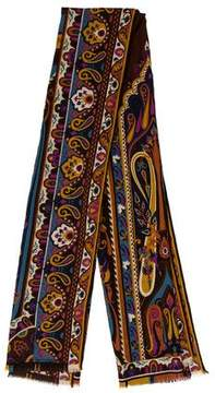 Etro Wool Paisley Scarf