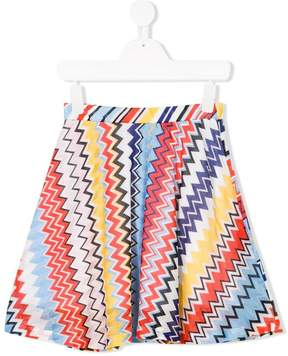 Missoni Kids zigzag flared skirt