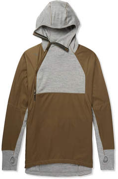 Nike Aae 1.0 Shell And Wool-Blend Jersey Hoodie