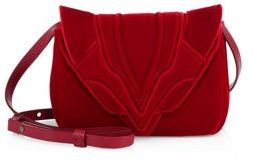 Elena Ghisellini Felix Small Velvet Crossbody Bag
