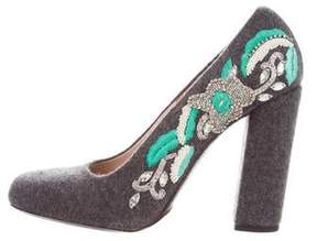 Dries Van Noten Embroidered Embellished Pumps
