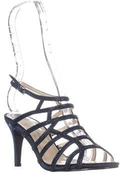 Caparros Harmonica Embellished Caged Evening Sandals, Navy.