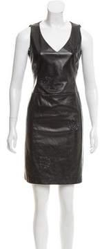 Akris Embellished Leather Dress