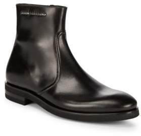 John Galliano Side Zip Leather Boots