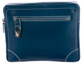 Marc Jacobs Smooth Leather Clutch - BLUE - STYLE