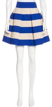 DELPOZO Striped Pleated Skirt w/ Tags