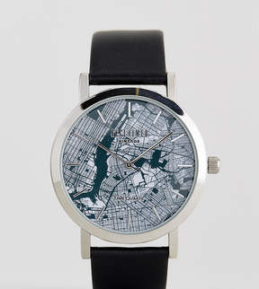 Reclaimed Vintage Inspired Manhattan Leather Watch In Black Exclusive To ASOS