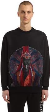 Les Benjamins Printed Techno & Cotton Sweatshirt