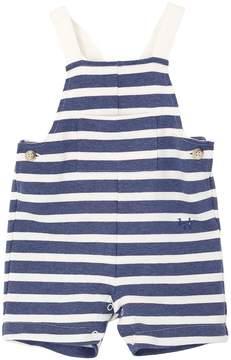 Il Gufo Striped Cotton Jersey Fleece Overalls