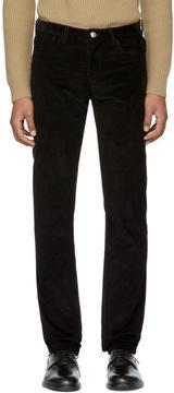 A.P.C. Black Corduroy Petit Standard Trousers