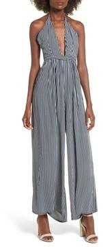 Faithfull The Brand Women's Riley Stripe Halter Jumpsuit