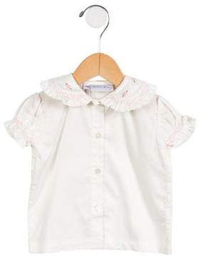 Rachel Riley Girls' Floral Embroidered Top w/ Tags