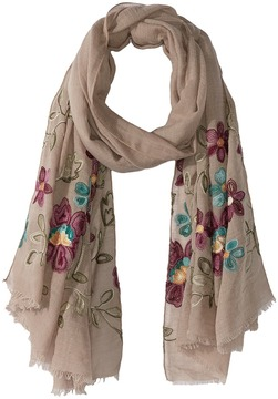 Bindya Floral Embroidered Scarf Scarves