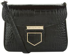 Givenchy Mini Nobile Croc Embossed Shoulder Bag