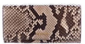 Tom Ford Snakeskin Logo Wallet w/ Tags