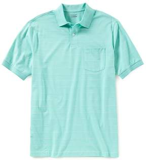 Roundtree & Yorke Travelsmart Short-Sleeve Striped Polo