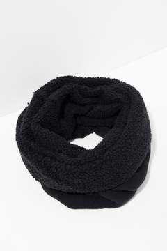 7 For All Mankind Poodle Tube Scarf In Black