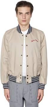 MAISON KITSUNÉ Cotton Gabardine Bomber Jacket