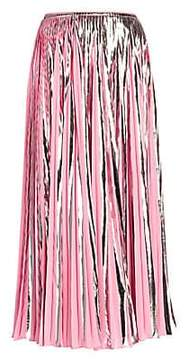 Marni Marni Women's Metallic Pleated Midi Skirt