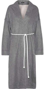 Bassike Double-faced Wool-blend Coat - Gray