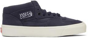 Vans Navy OG Half Cab LX Mid-Top Sneakers