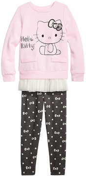 Hello Kitty 2-Pc. Ruffle Trim Tunic & Leggings Set, Little Girls (4-6X)