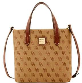Dooney & Bourke Madison Signature Mini Waverly Top Handle Bag - TAN - STYLE