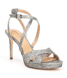 Antonio Melani Leeza Floral Glitter Platform Dress Sandals