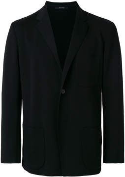Issey Miyake patch pocket blazer