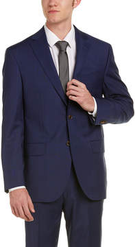 David Donahue Ryan Classic Fit Wool Suit With Flat Pant