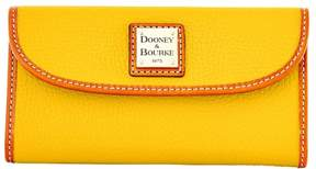 Dooney & Bourke Pebble Grain Continental Clutch Wallet - MUSTARD - STYLE