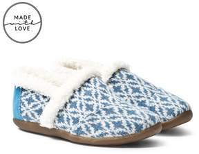 Toms Blue Fairisle House Slippers