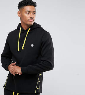 Hype Hoodie In Black With Poppers
