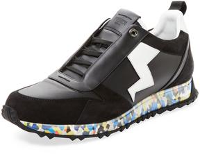 Fendi Men's Camouflage Sole Low Top Sneaker