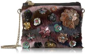 Betsey Johnson Faux Fuh-Embellished