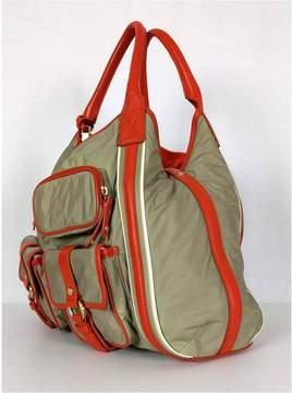 Cole Haan Beige & Orange Kyle Satchel Handbag