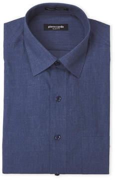 Pierre Cardin Navy Solid Dress Shirt