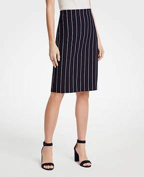 Ann Taylor Pinstripe Ponte Knit Pencil Skirt