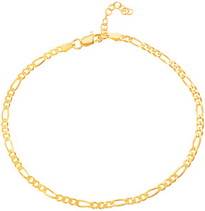 Bliss 14k Gold-Plated Figaro-Chain Anklet