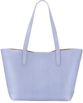 GiGi New York Teddy Snake-Embossed Tote Bag, Purple